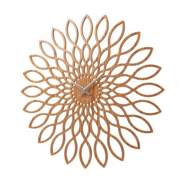 Zegar ścienny Present Time Sunflower Wood