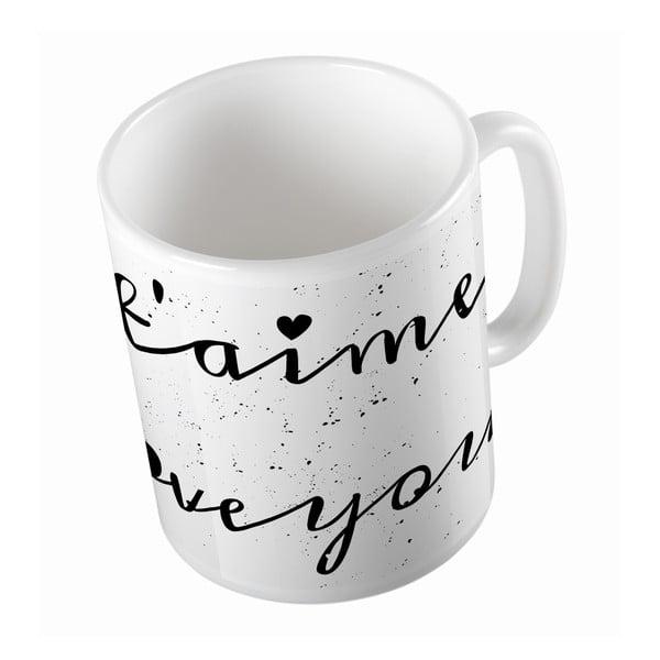 Ceramiczny kubek Je T'aime, 330 ml