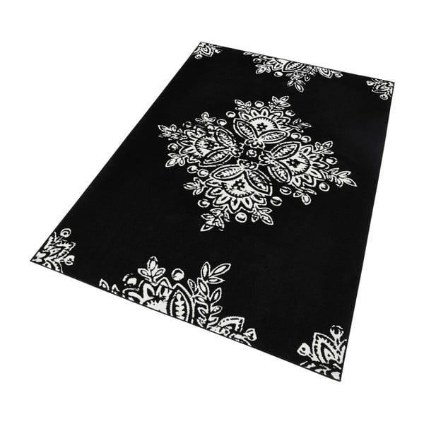Czarny dywan Hanse Home Gloria Blossom, 160x230 cm