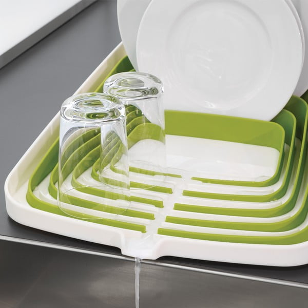 Biało-zielony ociekacz do naczyń Arena