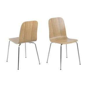 Krzesło do jadalni Bjoorn, w kolorze dębu