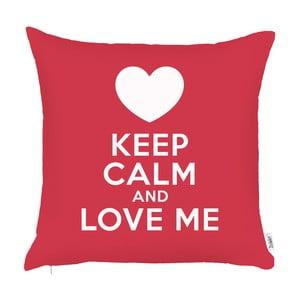 Czerwona poszewka na poduszkę Apolena Keep Calm, 43x43 cm