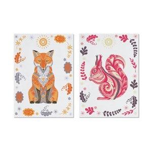 Zestaw 2 ścierek kuchennych Wildwood Fox