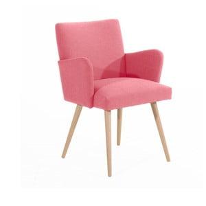 Różowy fotel Max Winzer Albert