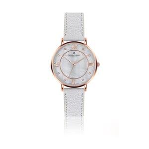 Zegarek damski z białym paskiem skórzanym Frederic Graff Rose Liskamm Lychee White Leather