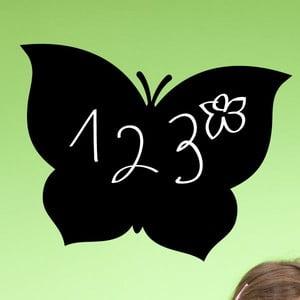 Tablica samoprzylepna z białym flamastrem Fanastick Black Butterfly