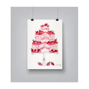 Plakat Americanflat Strawberry Cake, 30x42 cm