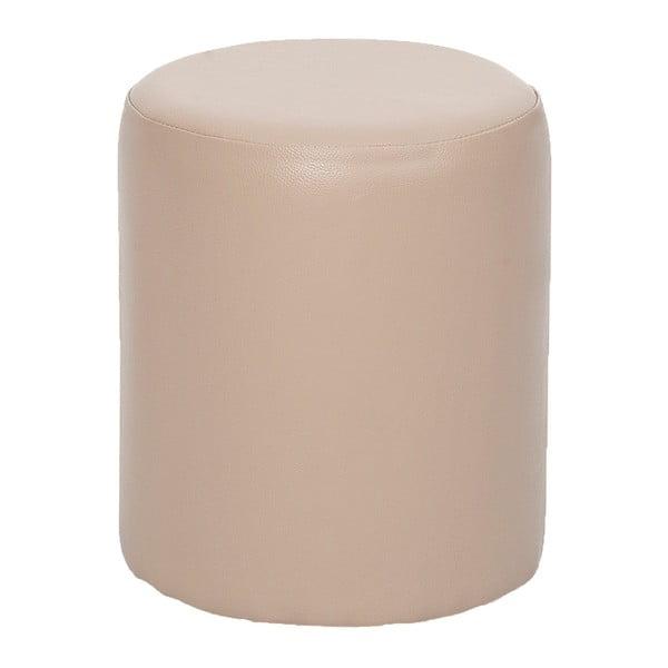 Okrągły puf Rodhio, kremowy