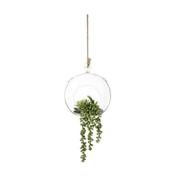 Wiszący wazon ze sztucznymi kwiatami Bubble