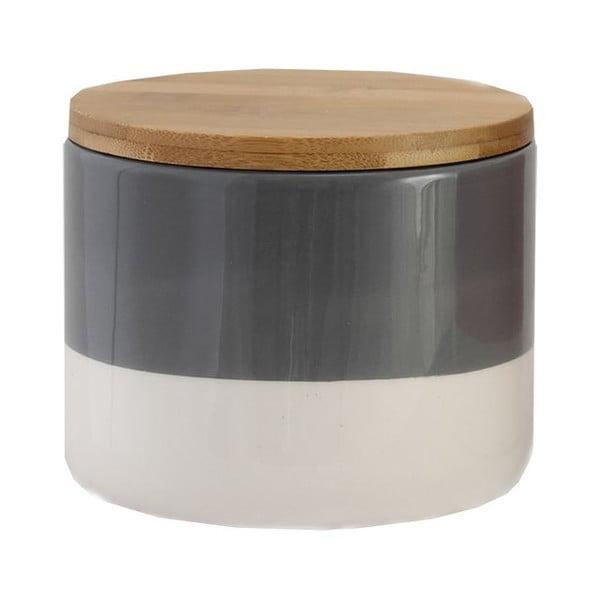 Pojemnik ceramiczny Majken Small Grey/White
