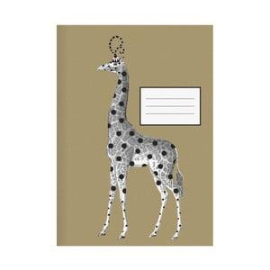 Notatnik Giraffe Gold, A4