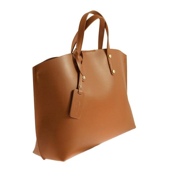 Beżowa torebka skórzana City