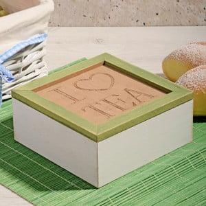 Bambusowe pudełko na herbatę z 4 przegródkami Herbal