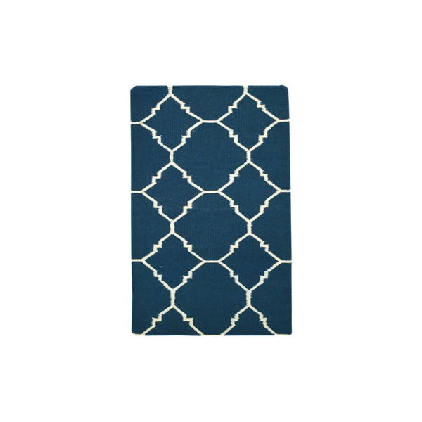 Ręcznie tkany kilim Dark Blue Antic Kilim, 65x104 cm