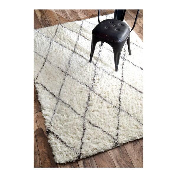 Wełniany dywan Ziggy Ivory, 120x183 cm