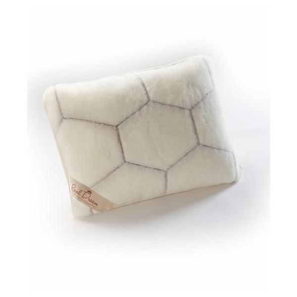 Poduszka z kaszmirowej wełny Royal Dream Cashmere Hex, 50x60 cm