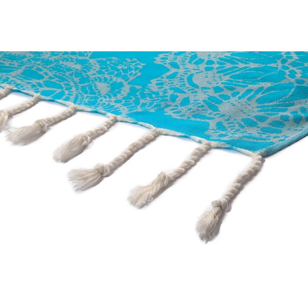 Ręcznik hammam Lace, niebieski