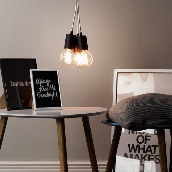 Lampa wisząca potrójna Cero, czarny/biały/czarny