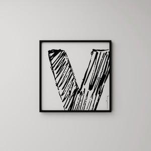 Plakat Litera V, 50x50 cm