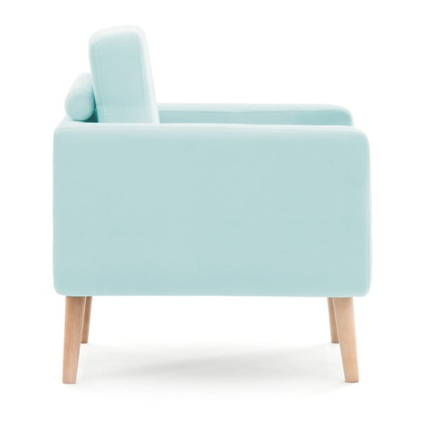 Pastelowo-niebieski fotel Vivonita Ina