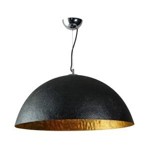 Czarno-złota lampa wisząca ETH Mezzo Tondo, ⌀ 70 cm