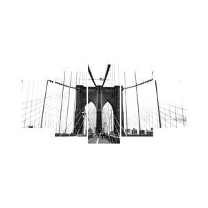 Wieloczęściowy obraz Black&White no. 50, 100x50 cm