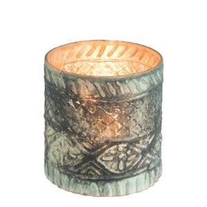 Szklany świecznik J-Line Boho Cylinder, ⌀ 10 cm