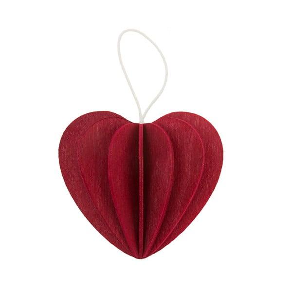 Składana pocztówka Heart Bright Red, 6.8 cm