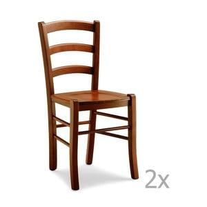 Zestaw 2 krzeseł drewnianych Castagnetti Pranzo