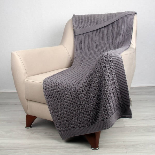 Koc Clen Dark Grey, 130x170 cm