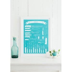 Kolorowy plakat Follygraph Knives, 21x30cm