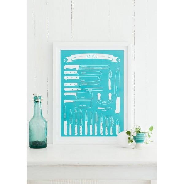 Kolorowy plakat Follygraph Knives, 30x40cm