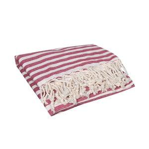 Ręcznik kąpielowy hammam Akasya Red, 90x190 cm