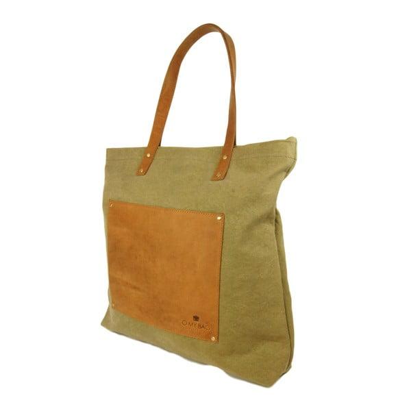 Torebka skórzana vintage maxi O My Bag Lou's, zielona