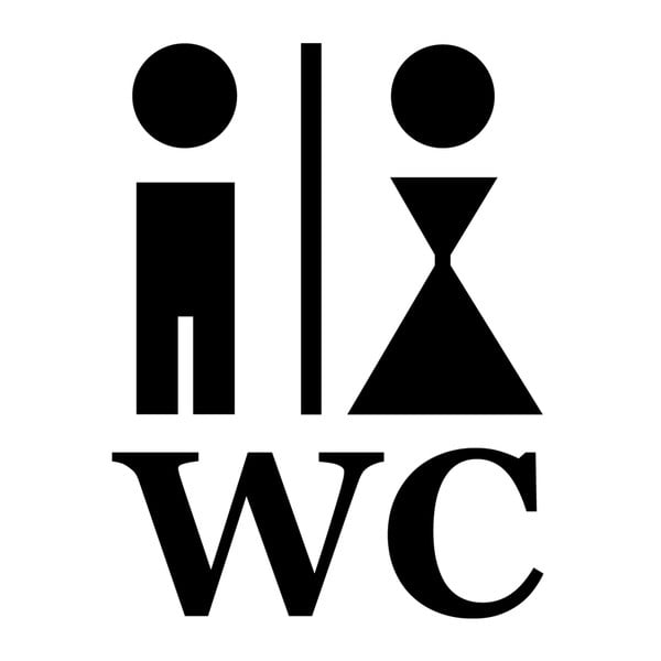 Naklejka Man and Woman WC