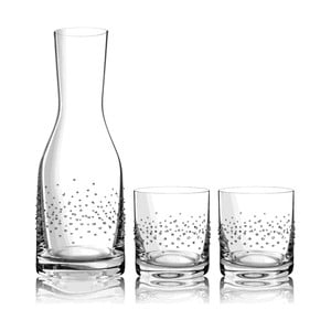 Komplet karafki i 2 szklanek Tropea ze Swarovski Elements w eleganckim opakowaniu