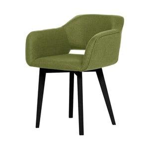 Zielone krzesło z czarnymi nogami My Pop Design Oldenburg