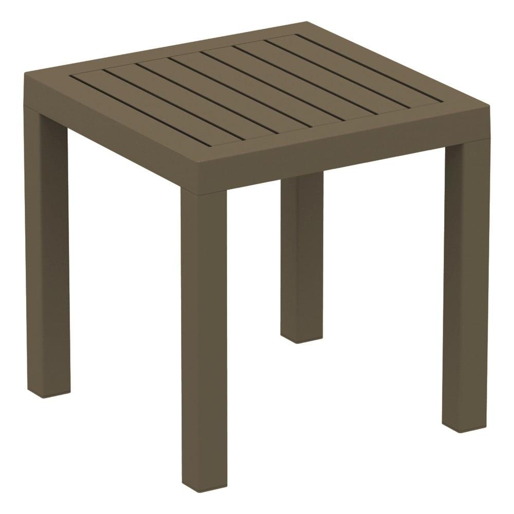 Brązowy stolik ogrodowy Resol Ocean, 45x45 cm