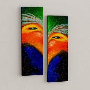 Zestaw 2 obrazów Kolorowe oko