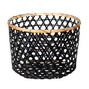 Czarny koszyk bambusowy a'miou home Shadows, ⌀ 44cm
