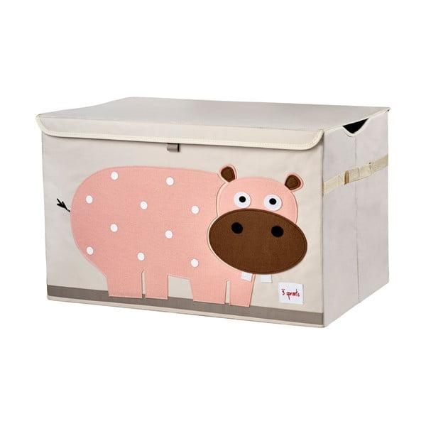 Skrzynka na zabawki z zamknięciem Sprouts, z hipopotamem