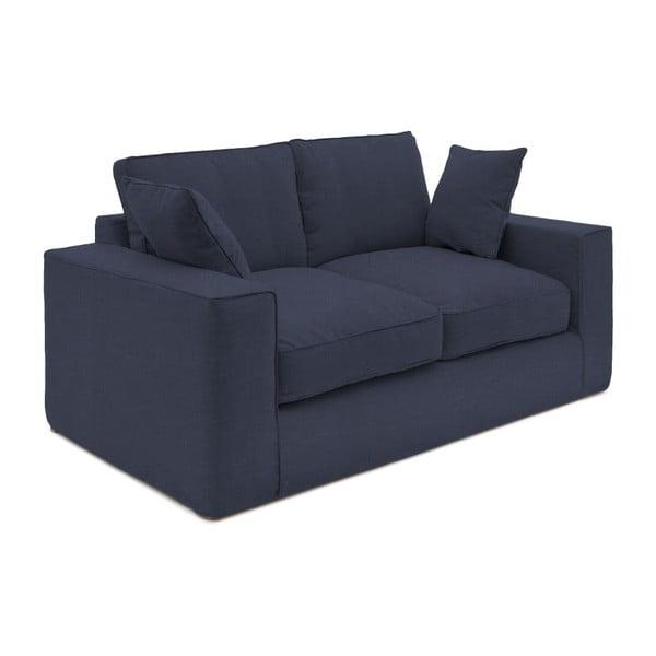 Granatowa sofa dwuosobowa Vivonita Jane