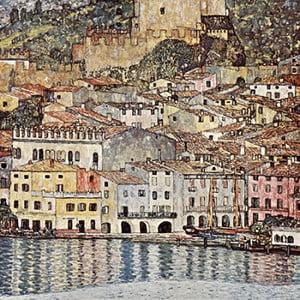Reprodukcja obrazu Gustava Klimta - Malcesine on Lake Garda, 60x60 cm
