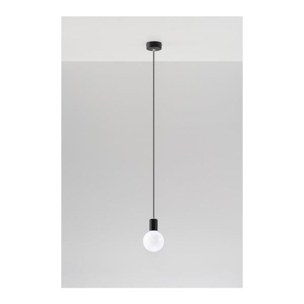 Czarno-biała lampa wisząca Nice Lamps Bombilla