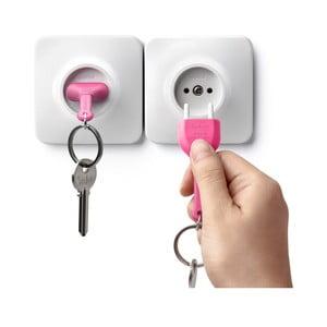 Zawieszka na klucze QUALY Unplug, różowa