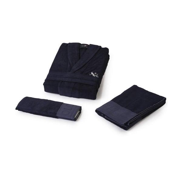 Komplet 2 szlafroków i 4 ręczników U.S. Polo Assn. B&W