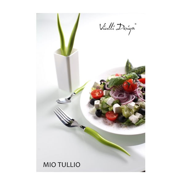 Zestaw sztućców Mio Tullio Green&White, 5 szt.