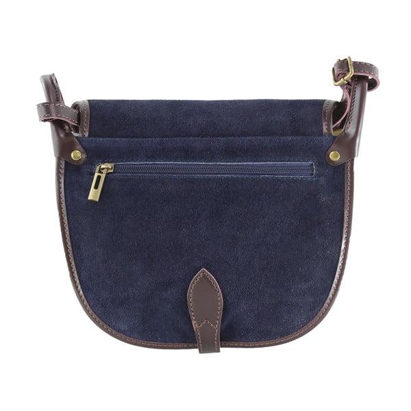 Skórzana torebka przez ramię Gina, niebieska