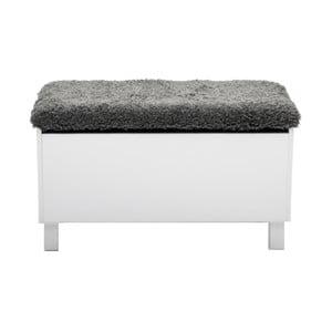 Biała ławka ze schowkiem RGE Sture