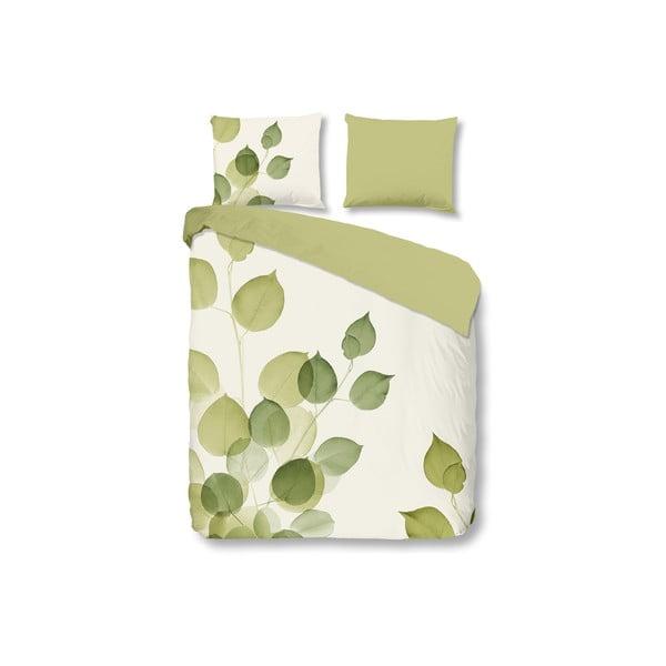 Zielona pościel Muller Textiel Leaves, 140 x 200 cm